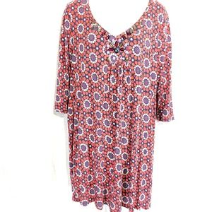 BODEN Lined Jersey Knit Beaded Mini Dress ~sz 12